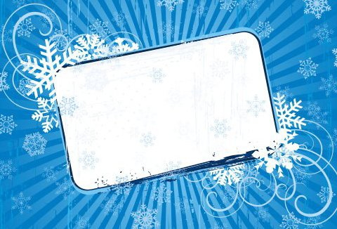 Snow Banner - Free vector #217833