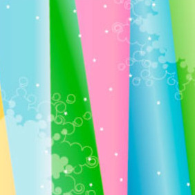 Multi Colors Stars Background - Free vector #218013