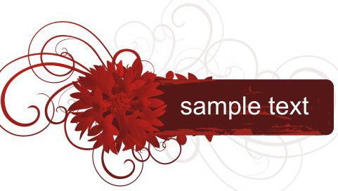 Red Banner - Free vector #218043