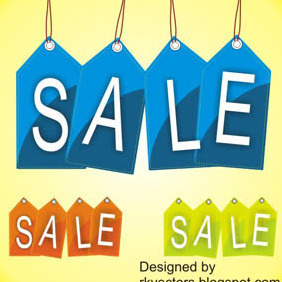 Vector Sale Price Tag Designs - vector gratuit #218103