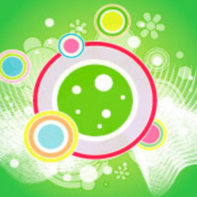 Retro Abstract Green Design - vector gratuit #218193