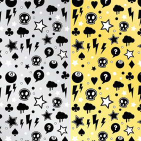 Punk Rock Pattern - Free vector #218473