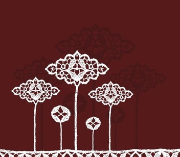 Lace flowers - Free vector #218523