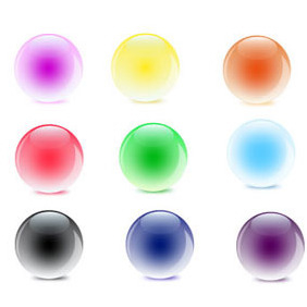 Vector Glass Orbs - Free vector #218693