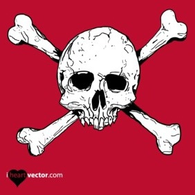 Hand Drawn Vector Skull Free - Kostenloses vector #218713