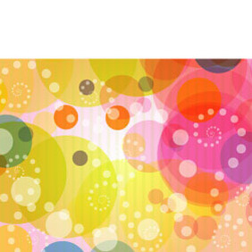 Abstract Colorful Circles Background - Free vector #218903