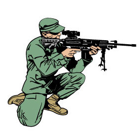 Soldier With Rifle Vector - Free vector #218913