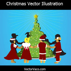 Christmas Vector Illustration - Free vector #219243