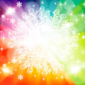 Colorful Ornament Winter Design - Free vector #219393