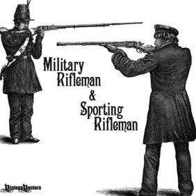Military Rifleman & Sport Rifleman Engravings - Free vector #219513