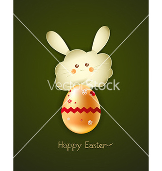 Free bunny face with egg vector - Kostenloses vector #219943