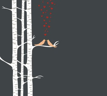 Love birds - vector gratuit #219953