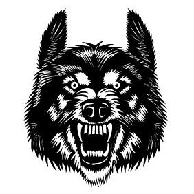 Wolf Head Vector Image - Free vector #220033