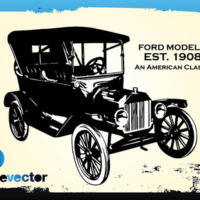 Vintage Ford Car - Free vector #220223