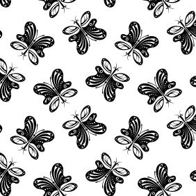Butterfly Vector Pattern - Free vector #220283