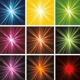 Rays And Stars Background - vector gratuit #220523