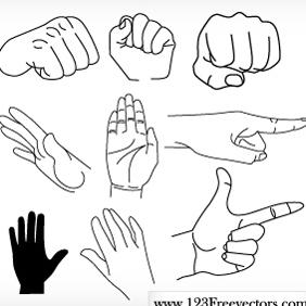 Free Vector Hands - Free vector #220533