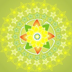 Green Flower 5 - vector #220643 gratis