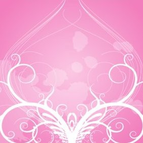 Floral Ornament Rose Background - Kostenloses vector #220683