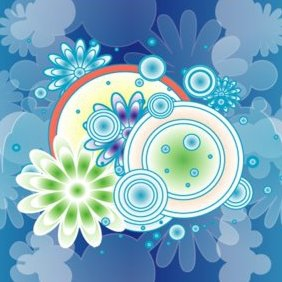 ColorFul Blue Design Vector Graphic - vector #220723 gratis