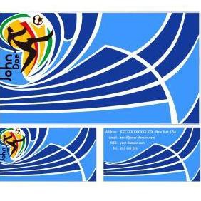World Cup Business Cards - vector gratuit #220783