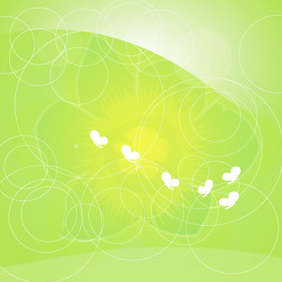 Green Flowers Vector Graphique - Free vector #221043