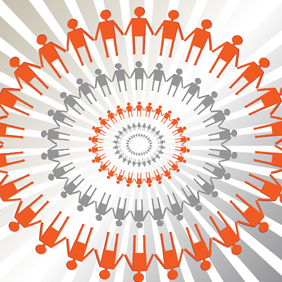 Human Circle Vector - vector gratuit #221103