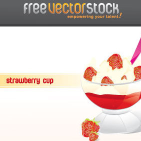 Strawberry Icecream - vector gratuit #221533