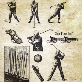 Olde-Time Golf - vector gratuit #221633