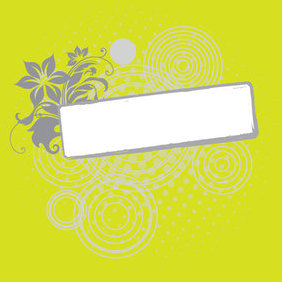 Flower Banner - vector #221643 gratis