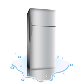 Broken Refrigerator - Free vector #221813