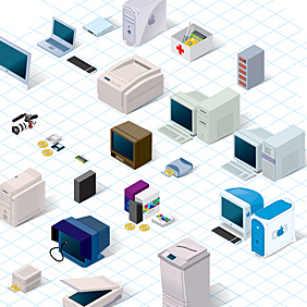 90's Technology - vector #221843 gratis