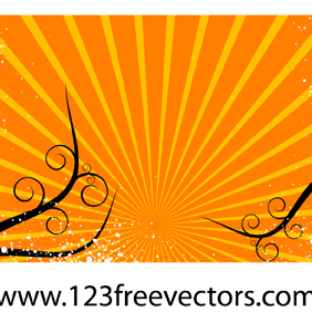 Sunburst Vector Background-6 - Free vector #221883