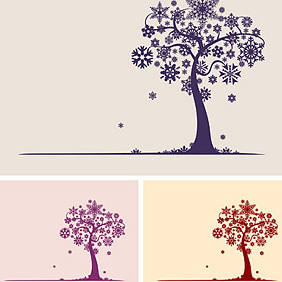 Snowflake Tree - Free vector #221913
