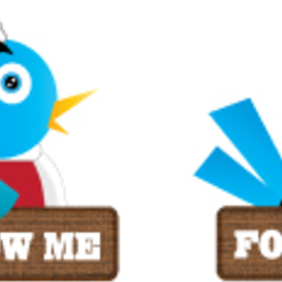 Twitter Bookmarker Set - Free vector #221933