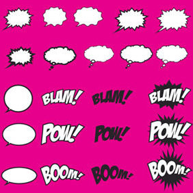 Speech Bubbles - Free vector #222113