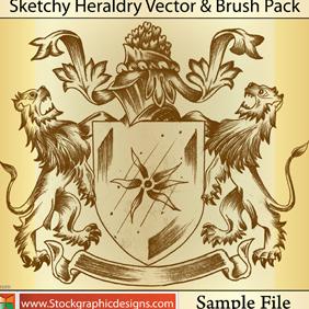 Sketchy Heraldry - бесплатный vector #222123