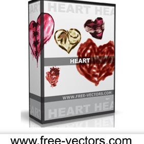 Heart Vectors - vector gratuit #222573