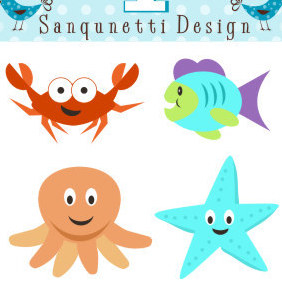 Ocean Fun - vector #222603 gratis