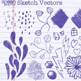 Doodles And Sketches Vector Pack - vector #222673 gratis