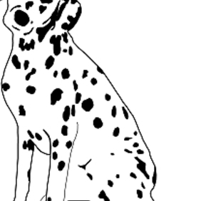 Dalmatian Dog Sitting - Free vector #222683