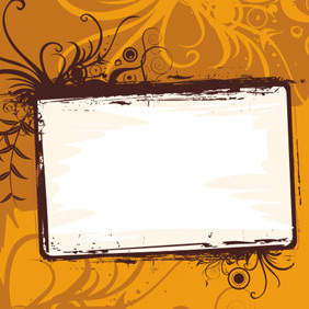 Orange Frame - vector #222693 gratis