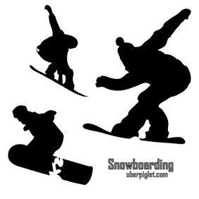 Snowboarding Vectors - Kostenloses vector #222993