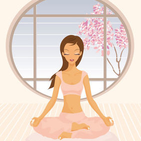 Yoga Girl - Free vector #223023