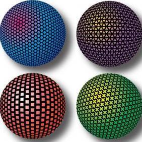 Mesh Orbs 1 Sphere Vectors - Free vector #223073