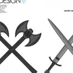 War Tools Axes And Swords - Free vector #223193