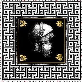 Spqr Rome Antique Helmet Vector - Free vector #223323