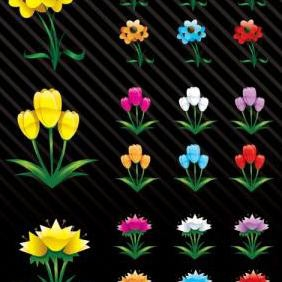 Spring Flowers - Free vector #223403