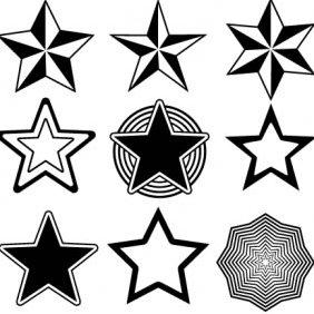 Random Free Star Vectors Part 13 Stars - Kostenloses vector #223783