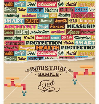 Free with industrial typography elements vector - Kostenloses vector #224173
